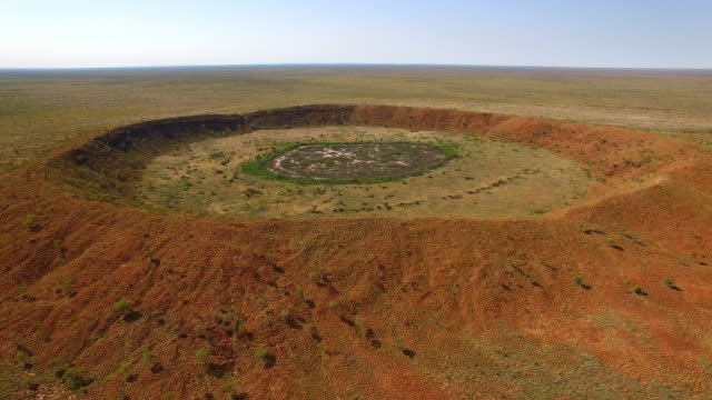wolfe creek crater in australia - meteor stock videos & royalty-free footage