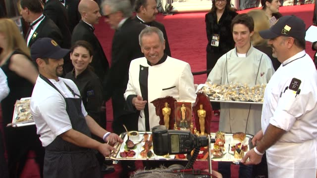 wolfgang puck at 84th annual academy awards - arrivals on 2/26/12 in hollywood, ca. - ウォルフギャング パック点の映像素材/bロール