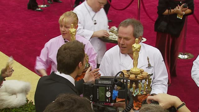 wolfgang puck at the 2007 academy awards arrivals at the kodak theatre in hollywood, california on february 25, 2007. - wolfgang puck stock videos & royalty-free footage