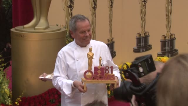 wolfgang puck at the 81st academy awards arrivals part 4 at los angeles ca. - wolfgang puck stock videos & royalty-free footage