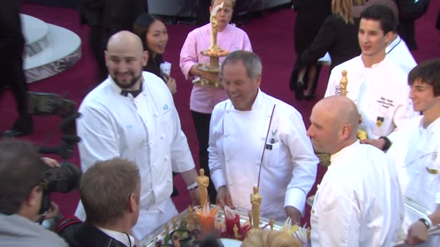 wolfgang puck at the 83rd annual academy awards - arrivals part 2 at hollywood ca. - wolfgang puck stock videos & royalty-free footage