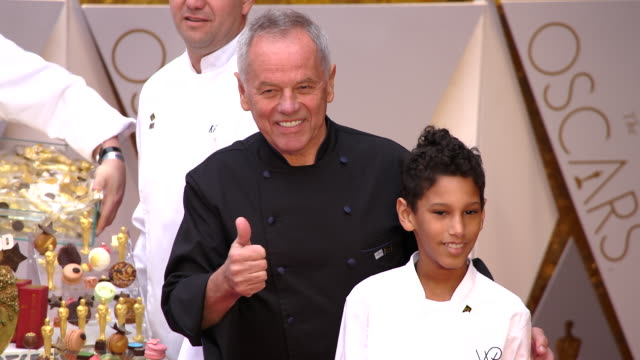 wolfgang puck at the 89th annual academy awards - arrivals at hollywood & highland center on february 26, 2017 in hollywood, california. 4k available... - wolfgang puck stock videos & royalty-free footage