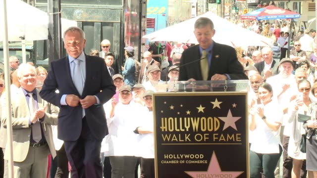 wolfgang puck at wolfgang puck honored with star on the hollywood walk of fame at hollywood walk of fame on april 26, 2017 in hollywood, california. - wolfgang puck stock videos & royalty-free footage