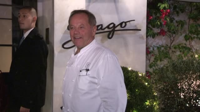 wolfgang puck & gelila assefa at spago in beverly hills, 12/14/12. - wolfgang puck stock videos & royalty-free footage