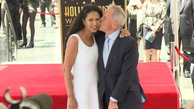 wolfgang puck & gelila assefa at wolfgang puck honored with star on the hollywood walk of fame at hollywood walk of fame on april 26, 2017 in... - wolfgang puck stock videos & royalty-free footage