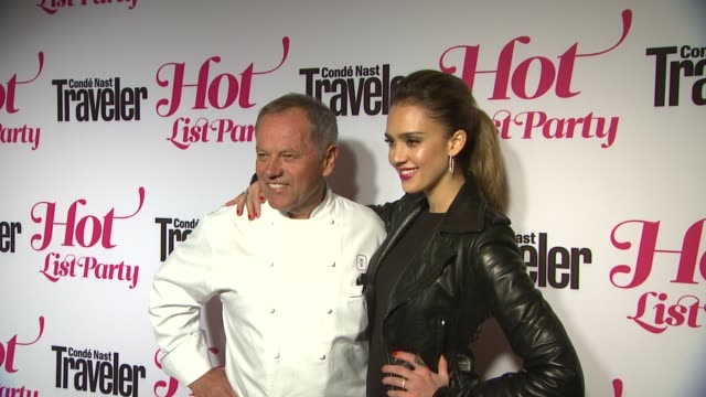 wolfgang puck, jessica alba at conde nast traveler hot list party on 4/12/12 in los angeles, ca - wolfgang puck stock videos & royalty-free footage