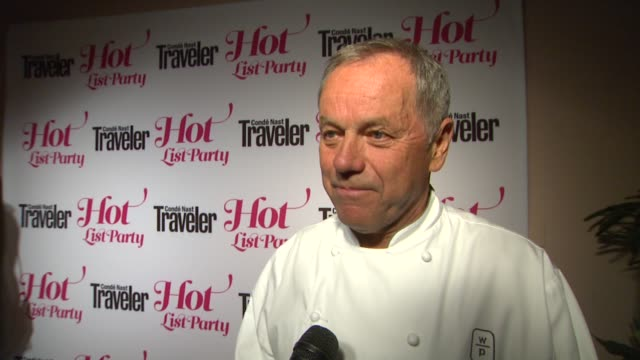 wolfgang puck on where he finds inspiration when developing new restaurants and dishes, the best meal he's ever had, what restaurants would make his... - wolfgang puck stock videos & royalty-free footage
