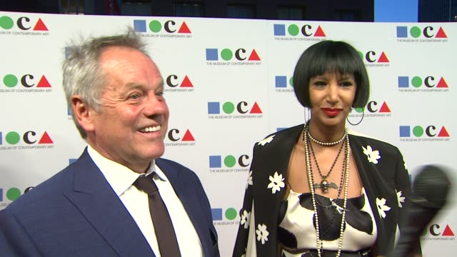 wolfgang puck on why he wanted to support moca, what he is most looking forward to at the gala and what one can expect from a moca party at yesssss!... - wolfgang puck stock videos & royalty-free footage