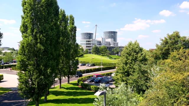 wolfsburg skyline - wolfsburg lower saxony stock videos and b-roll footage
