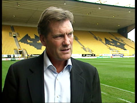wolverhampton moulineux glenn hoddle interview sot this is a place that can lift itself with a lot of hard work/ massive challenge and i'm looking... - glenn hoddle stock videos & royalty-free footage