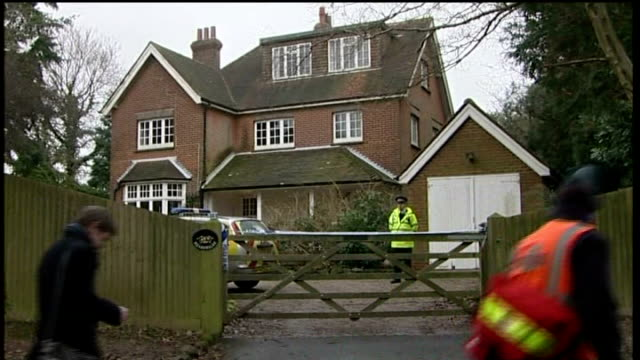 vídeos y material grabado en eventos de stock de woman accused of murdering her two young children appears in court lib heathfield various of detatched house guarded by police officers - east sussex