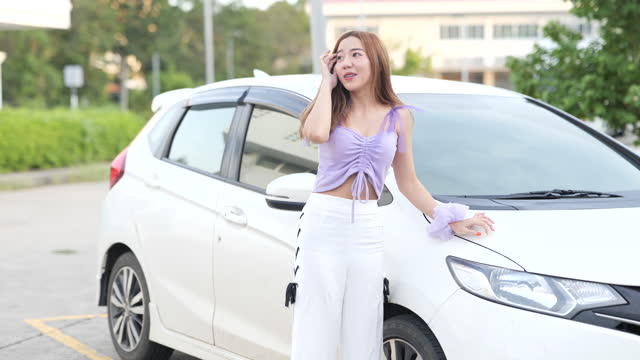 woman and car break up on the road - traffic accident stock videos & royalty-free footage