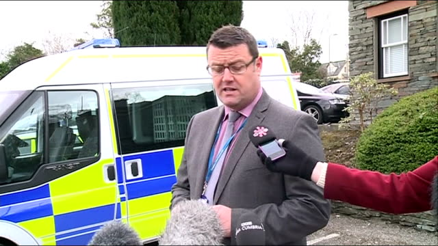 woman and daughter die on boat in lake district police investigating detective inspector mike brown interview sot talks of generator causing concern - cumbria stock-videos und b-roll-filmmaterial