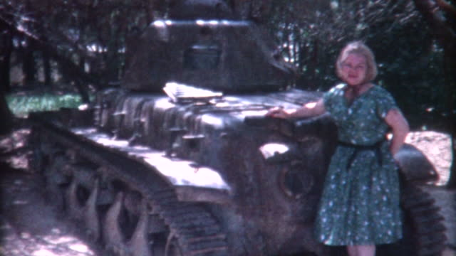 woman and tank 1959 - armoured vehicle stock videos and b-roll footage