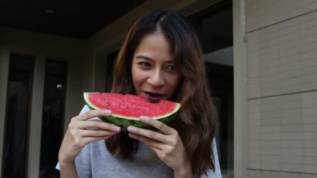 woman and watermelon - over eating stock videos & royalty-free footage