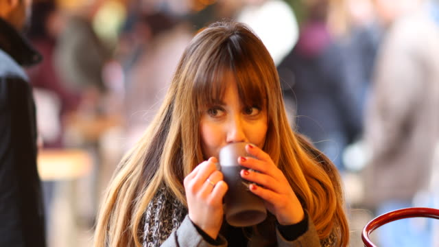 woman at a christmas market - bangs stock videos & royalty-free footage