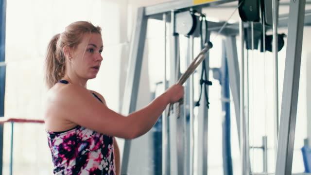 woman at gym - genderblend stock videos & royalty-free footage