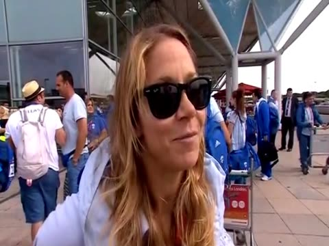 woman at london airport gives top marks to london for the olympic games - vox populi stock videos and b-roll footage