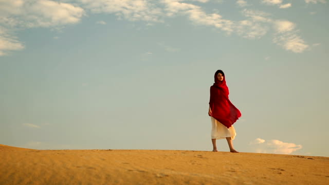 Woman at Thar Desert in Jaisalmer India