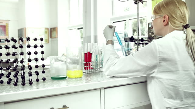 woman at work in laboratory. - replication bubble stock videos and b-roll footage