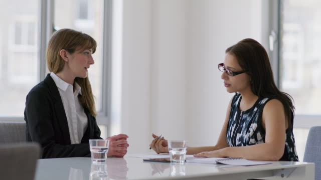 MS A woman attends a job interview