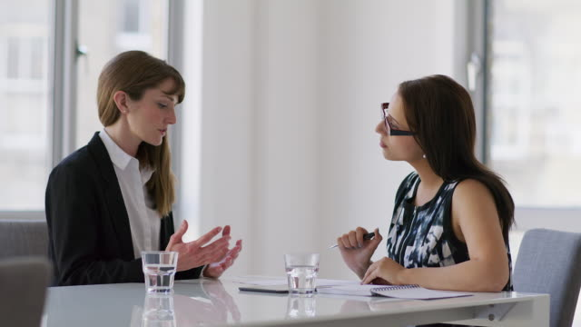 ms a woman attends a job interview - job interview stock videos and b-roll footage