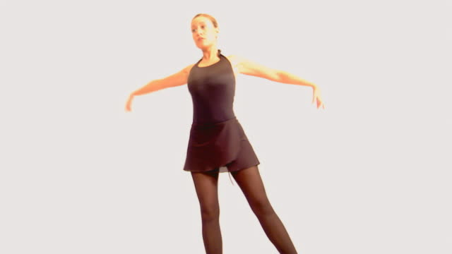 woman ballet dancer - pirouette stock videos and b-roll footage