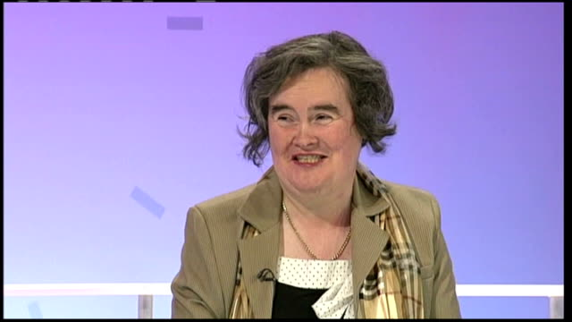 woman becomes internet hit after appearing on 'britain's got talent' scotland int susan boyle interview sot - britain's got talent stock-videos und b-roll-filmmaterial