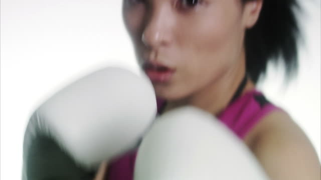a woman boxing. - self defence stock videos & royalty-free footage