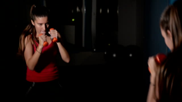 woman boxing - combat sport stock videos and b-roll footage