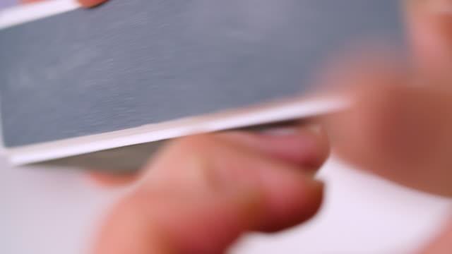 cu woman buffing nails - femininity stock videos & royalty-free footage