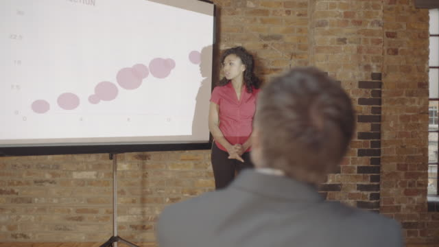Woman Business presentation during sales conference