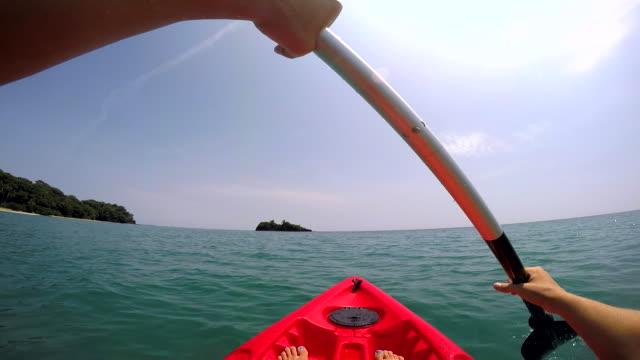 POV Woman Caribbean Kayaking