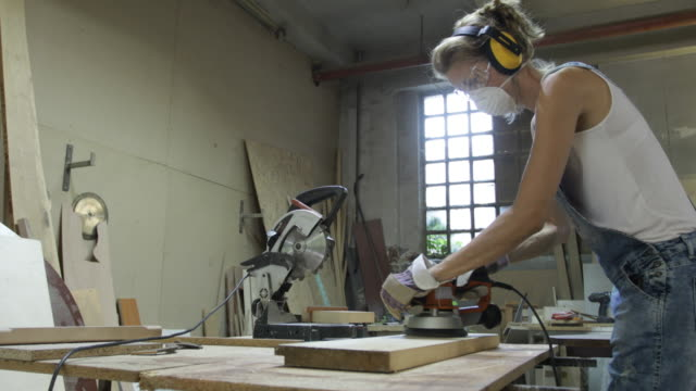 woman carpenter - carpenter stock videos and b-roll footage