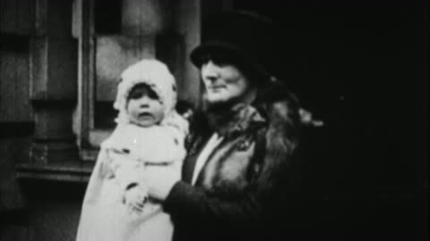 woman carrying baby queen elizabeth / london, united kingdom - 1926 stock videos & royalty-free footage