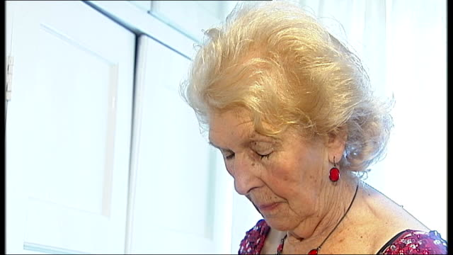 woman celebrates 90th birthday in belly dance class england surrey redhill int close up of 90th birthday cards / jo holden looking at cards / close... - disposable stock videos and b-roll footage