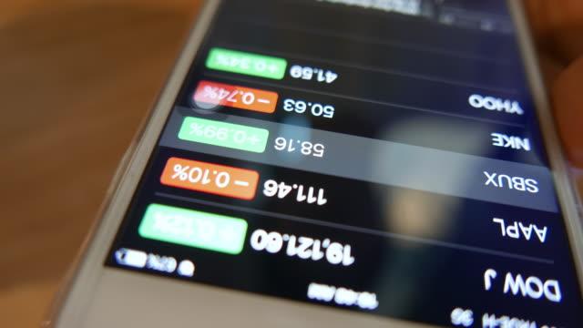 Woman check exchange market chart on smart phone