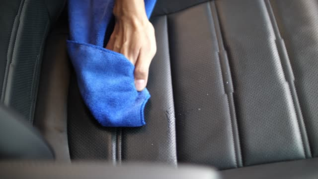 slo mo, woman clean her car seat - gearshift stock videos & royalty-free footage