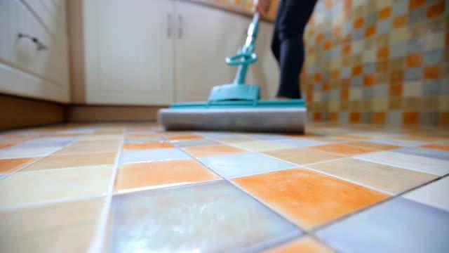 woman cleaning floor - bucket stock videos & royalty-free footage