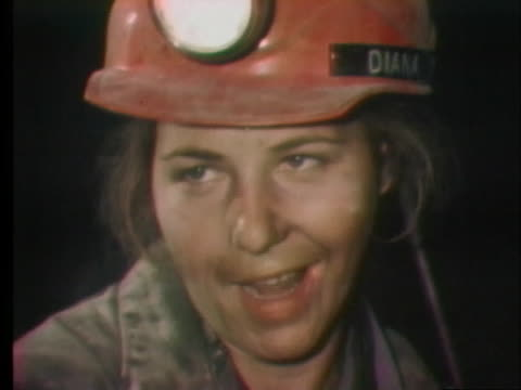 woman coal miner says other women do not think that she should be coal mining. - place of work stock videos & royalty-free footage