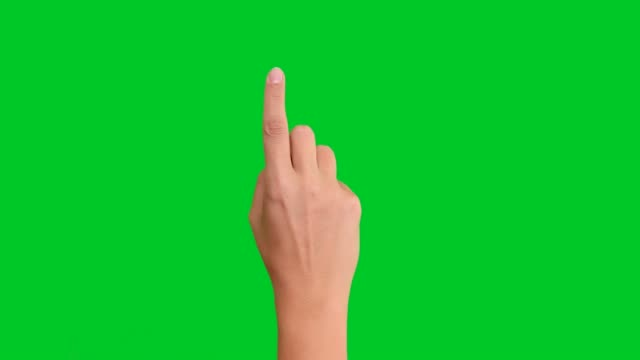 4k woman counting on green screen - number 1 stock videos & royalty-free footage