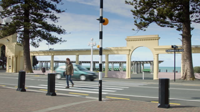 Woman Crossing Street by Napier Soundshell