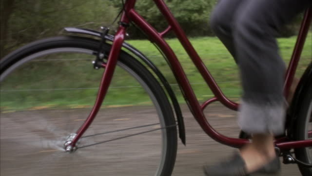 woman cycling, sweden. - one mature woman only stock videos & royalty-free footage