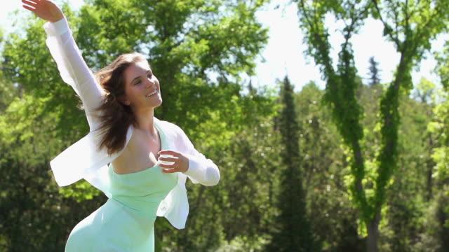 Woman dances beautifully