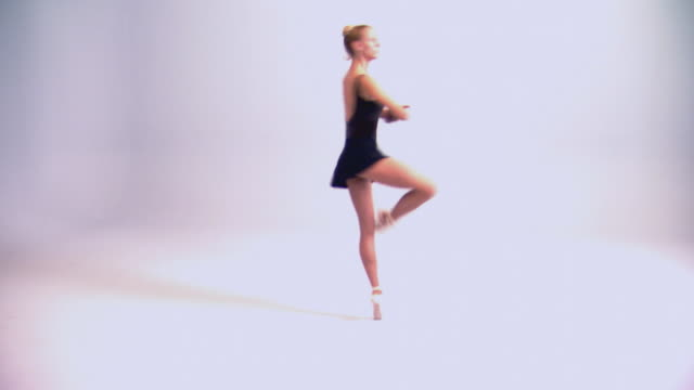 woman dancing ballet - pirouette stock videos and b-roll footage