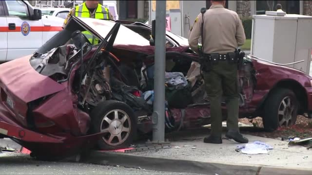 Woman Dies After Fire Truck Collides with Car on June 20 2013 in Poway California
