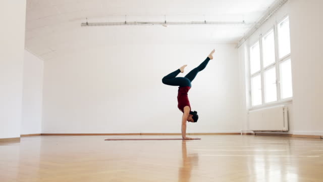 Woman doing Ashtanga Yoga