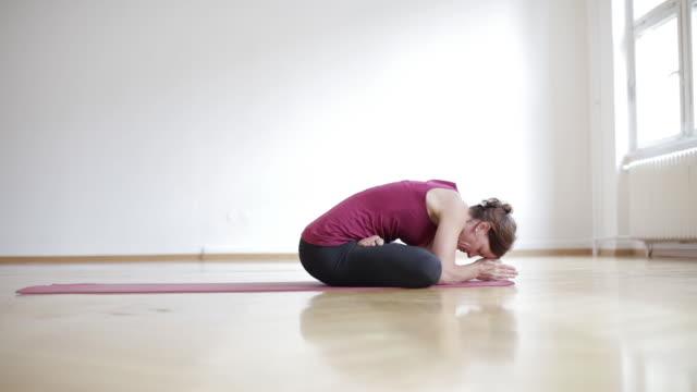 Woman doing Ashtanga Yoga