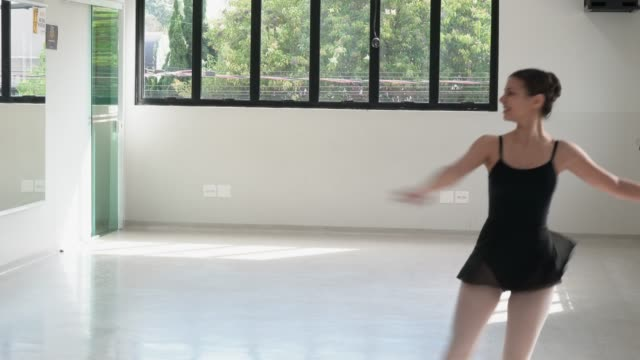 woman doing ballet classes - ballet studio stock videos and b-roll footage