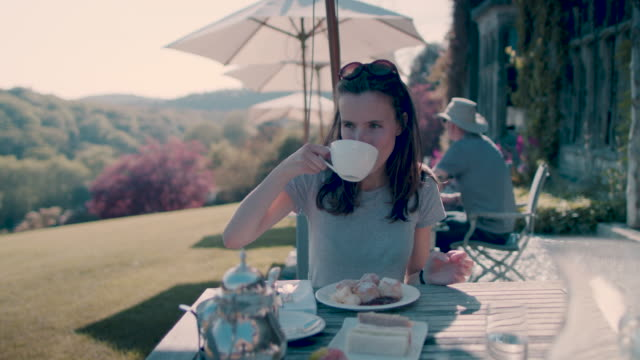 woman drinking tea - tea cup stock videos and b-roll footage